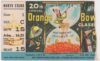 1954 Orange Bowl ticket stub Oklahoma vs Maryland