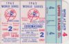 1963 World Series Game 2 ticket stub Dodgers vs Yankees