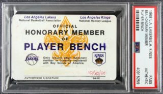 1968 Lakers and Kings bench pass