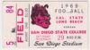 1969 San Diego State ticket stub vs Long Beach State