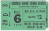 1975 NAHL Maine Nordiques ticket stub vs Johnstown Jets