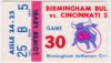 1977 Birmingham Bulls ticket stub vs Stingers