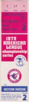 1979 ALCS Game 2 ticket stub Angels vs Orioles