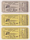 1981 Spartanburg Traders ticket stub lot of 3