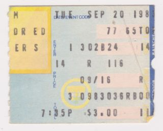 1983 Los Angeles Dodgers ticket stub vs Astros