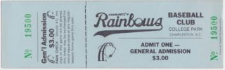 1985 Charleston Rainbows ticket stub