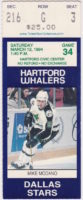 1994 Hartford Whalers ticket stub vs Dallas Stars