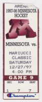 1997 NCAAMH Minnesota ticket stub vs Brown Mariucci Classic