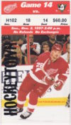 1997 Detroit Red Wings ticket stub vs Anaheim