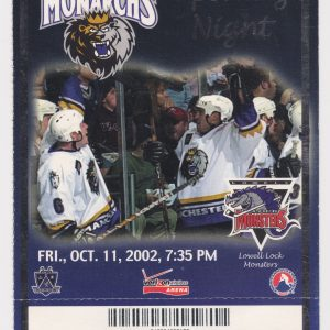 2002 Manchester Monarchs vs Lowell 10/11/2002