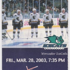2003 Manchester Monarchs vs Worcester IceCats 3/28/2003