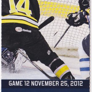 2012 St John's IceCaps ticket stub vs Providence 11/25/2012