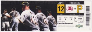 2013 Pittsburgh Pirates ticket stub vs Reds