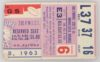 1963 NFL Baltimore Colts ticket stub vs Minnesota