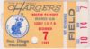 1969 San Diego Chargers ticket stub vs Boston Patriots