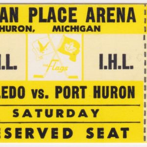 1976 IHL Port Huron Flags ticket stub vs Toledo