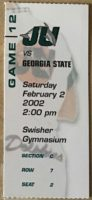 2002 NCAAMB Jacksonville University ticket stub vs Georgia State