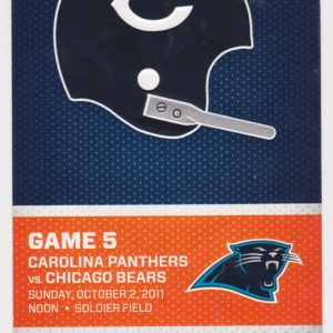 2011 Chicago Bears ticket stub vs Carolina Panthers 10/2/2011