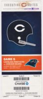 2011 Chicago Bears ticket stub vs Carolina Panthers