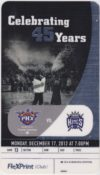 2012 Phoenix Suns ticket stub vs Kings