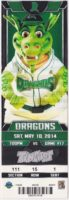 2014 Dayton Dragons ticket stub vs TinCaps