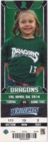 2014 Dayton Dragons ticket stub vs Whitecaps