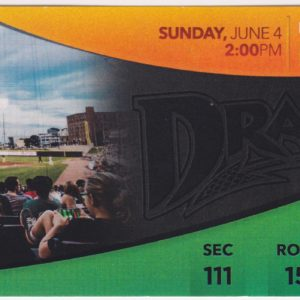 2017 Dayton Dragons ticket stub vs TinCaps for sale