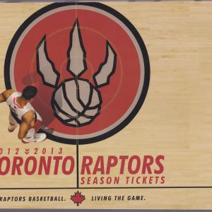 2012 Toronto Raptors Season Ticket Book for sale