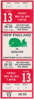 1975 WHA New England Whalers ticket stub Denver Spurs
