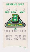 1982 CHL Birmingham South Stars ticket stub vs SLC