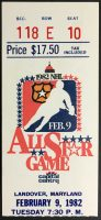 1982 NHL All Star Game Ticket Stub Mike Bossy MVP