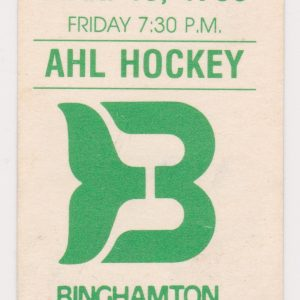 1988 AHL Binghamton Whalers ticket stub vs Hershey for sale