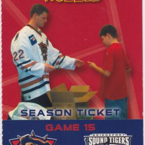 2002 AHL Hamilton Bulldogs ticket stub vs Bridgeport