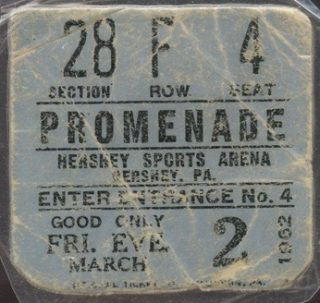 1962 Wilt Chamberlain 100 point game ticket stub