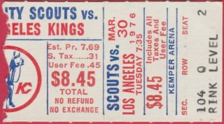 Kansas City Scouts Final Home Game ticket stub