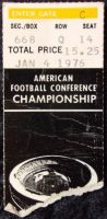 1976 AFC Championship Game Ticket Stub Steelers at Raiders