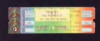 1981 Plasmatics ticket stub Olympic Auditorium LA