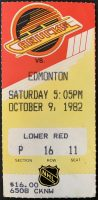 1982 Vancouver Canucks ticket stub Gretzky 200th goal