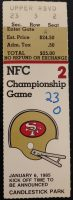 1985 NFC Championship ticket stub 49ers vs Bears