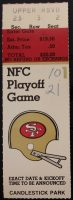 1984 NFC Playoffs ticket stub Giants at 49ers
