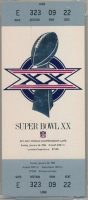 1986 Super Bowl XX ticket stub Bears vs Patriots