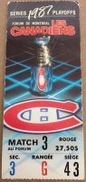 1987 Round 2 Game 1 Canadiens ticket stub vs Nordiques