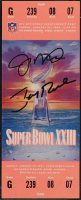 1989 Super Bowl XXIII Full Ticket 49ers vs Bengals