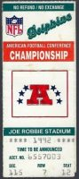 1993 AFC Championship ticket stub Bills vs Dolphins