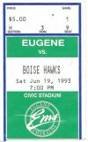 1993 Eugene Emeralds ticket stub vs Boise