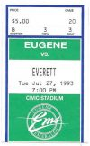 1993 Eugene Emeralds ticket stub vs Everett