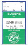 1993 Eugene Emeralds ticket stub vs Southern Oregon