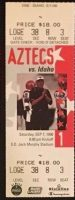 1996 NCAAF San Diego State ticket stub vs Idaho