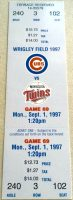 1997 Sammy Sosa HR 202 Cubs vs Twins Full Ticket