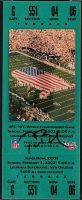 2002 Super Bowl XXXVI ticket stub Patriots vs Rams